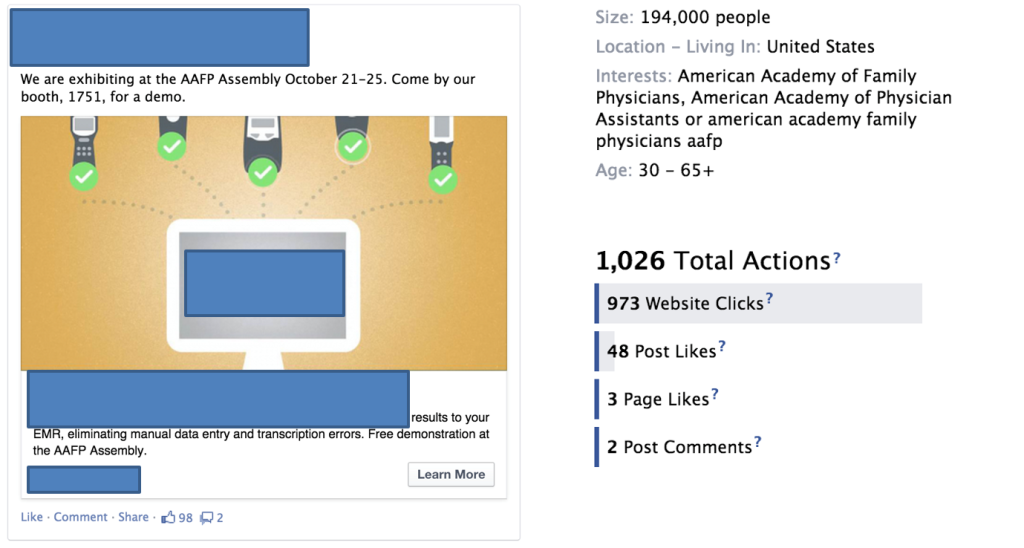 Tradeshow Targeting With Facebook Ads