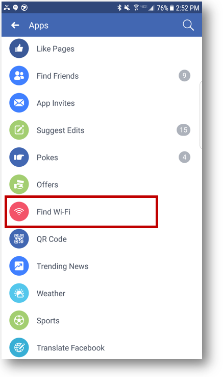 facebook free wifi locator on smartphone ii