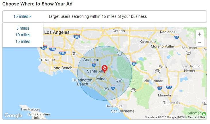 Yelp Ads Geo Targeting Options For A Salon Business